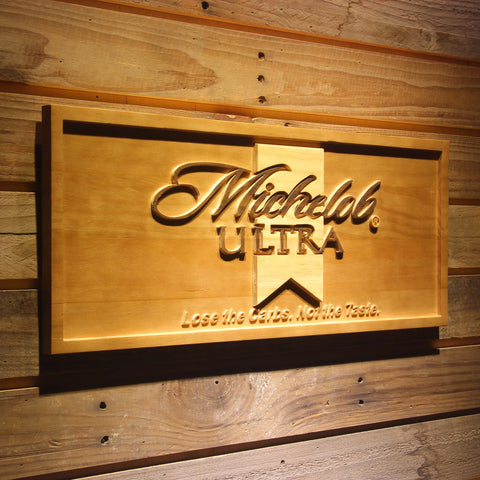 Michelob Ultra Wooden Sign - - SafeSpecial