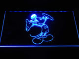 Mickey Mouse LED Neon Sign - Blue - SafeSpecial
