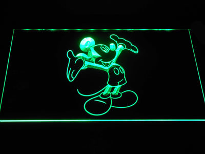 Mickey Mouse LED Neon Sign - Green - SafeSpecial