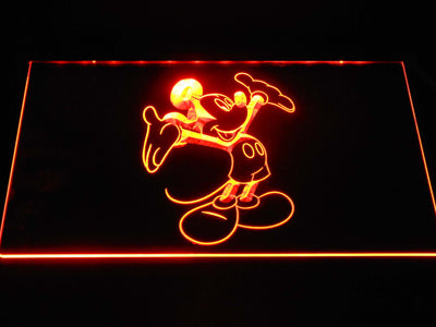 Mickey Mouse LED Neon Sign - Orange - SafeSpecial