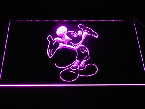 Mickey Mouse LED Neon Sign - Purple - SafeSpecial