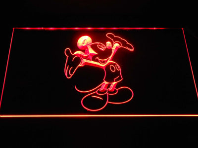 Mickey Mouse LED Neon Sign - Red - SafeSpecial