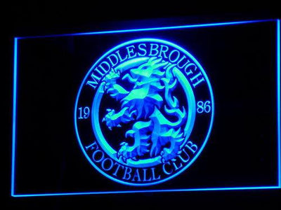 Middlesbrough Football Club LED Neon Sign - Legacy Edition - Blue - SafeSpecial