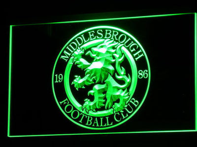 Middlesbrough Football Club LED Neon Sign - Legacy Edition - Green - SafeSpecial