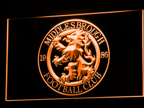 Middlesbrough Football Club LED Neon Sign - Legacy Edition - Orange - SafeSpecial