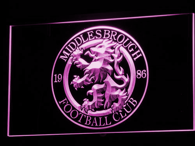 Middlesbrough Football Club LED Neon Sign - Legacy Edition - Purple - SafeSpecial