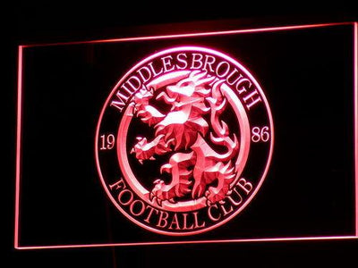 Middlesbrough Football Club LED Neon Sign - Legacy Edition - Red - SafeSpecial