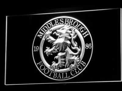 Middlesbrough Football Club LED Neon Sign - Legacy Edition - White - SafeSpecial