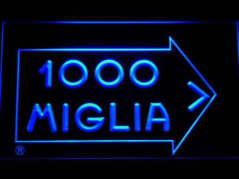 Mille Miglia Racing LED Neon Sign - Blue - SafeSpecial