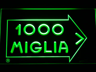 Mille Miglia Racing LED Neon Sign - Green - SafeSpecial