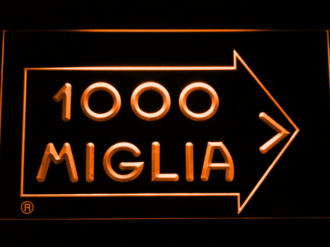 Image of Mille Miglia Racing LED Neon Sign - Orange - SafeSpecial