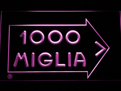Mille Miglia Racing LED Neon Sign - Purple - SafeSpecial