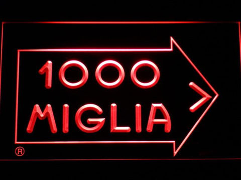 Mille Miglia Racing LED Neon Sign - Red - SafeSpecial