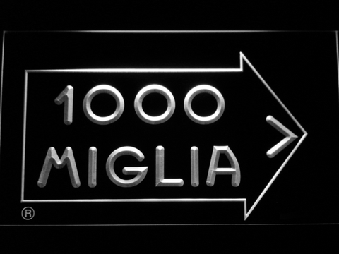 Image of Mille Miglia Racing LED Neon Sign - White - SafeSpecial