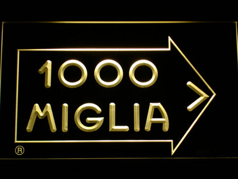 Mille Miglia Racing LED Neon Sign - Yellow - SafeSpecial