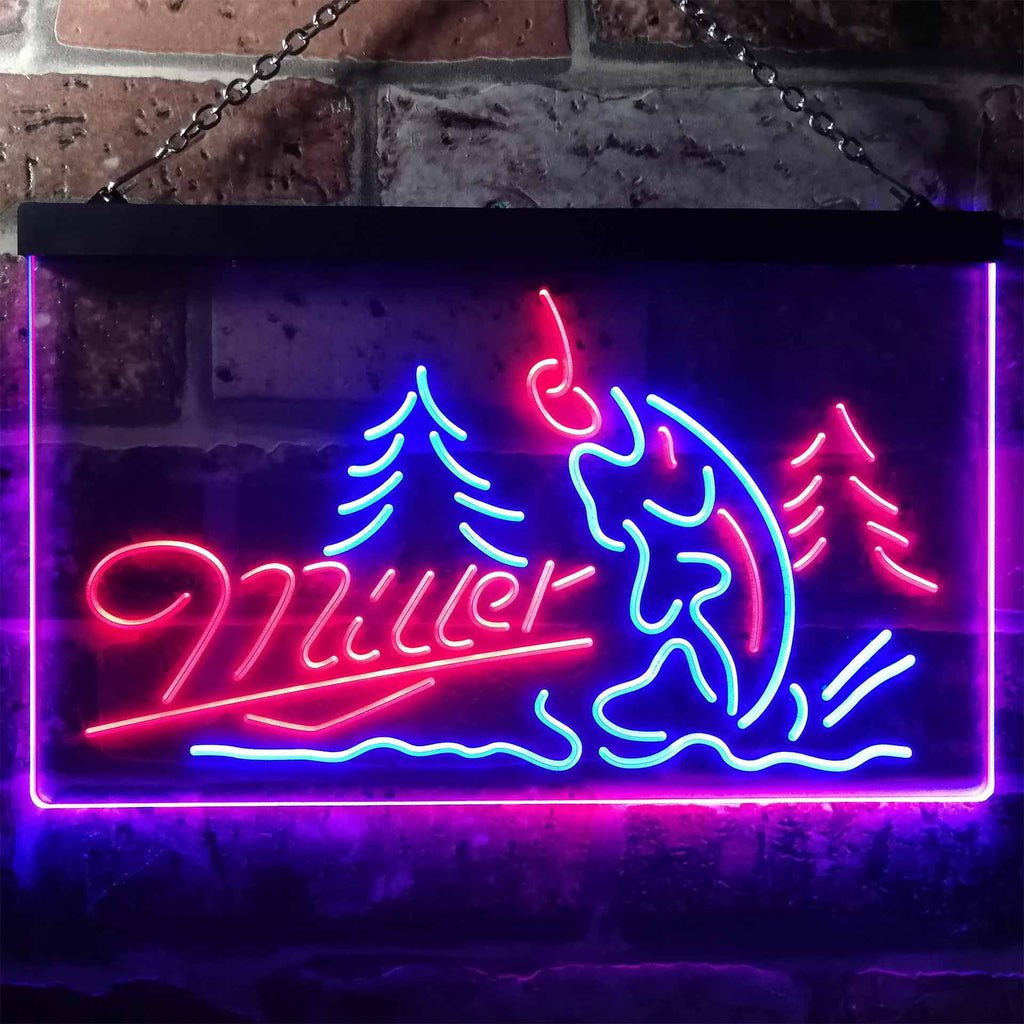 Miller Fish Neon-Like LED Sign - Dual Color | SafeSpecial - photo#22