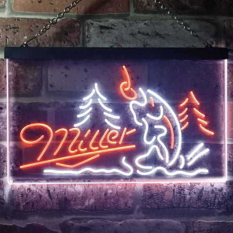 Image of Miller Fish Neon-Like LED Sign - Dual Color