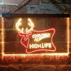 Miller High Life 2 Neon-Like LED Sign - Dual Color