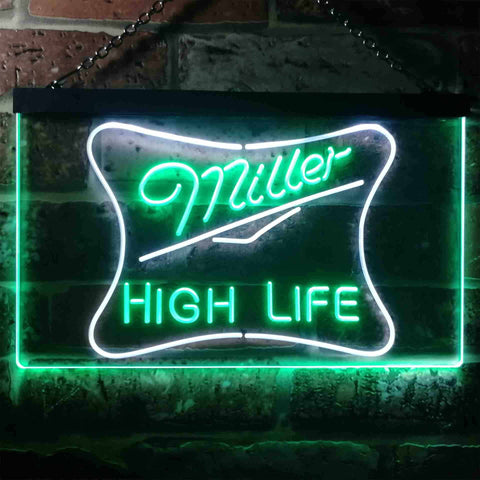 Miller High Life 3 Neon-Like LED Sign - Dual Color
