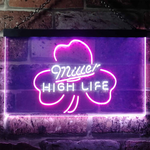 Image of Miller High Life 4 Neon-Like LED Sign - Dual Color