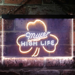 Miller High Life 4 Neon-Like LED Sign - Dual Color