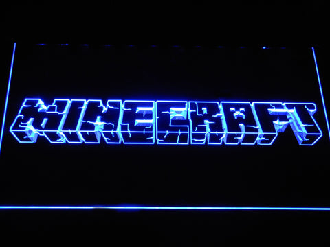 Image of Minecraft LED Neon Sign - Blue - SafeSpecial