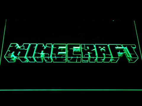 Image of Minecraft LED Neon Sign - Green - SafeSpecial