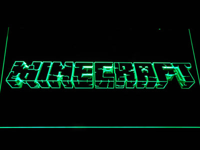 Minecraft LED Neon Sign - Green - SafeSpecial