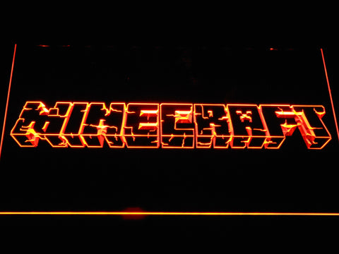 Image of Minecraft LED Neon Sign - Orange - SafeSpecial
