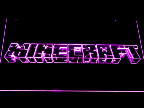 Image of Minecraft LED Neon Sign - Purple - SafeSpecial