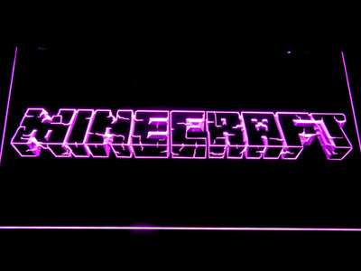 Minecraft LED Neon Sign - Purple - SafeSpecial