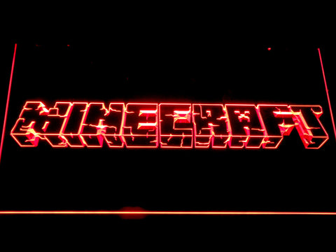 Image of Minecraft LED Neon Sign - Red - SafeSpecial