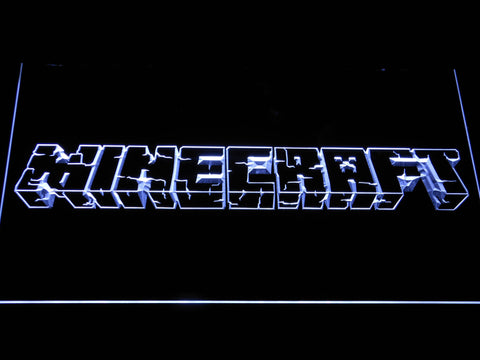Image of Minecraft LED Neon Sign - White - SafeSpecial