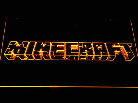 Image of Minecraft LED Neon Sign - Yellow - SafeSpecial
