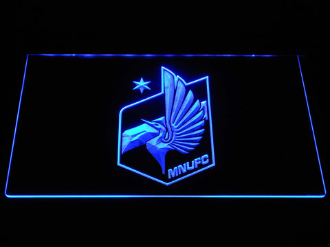 Image of Minnesota United FC LED Neon Sign - Blue - SafeSpecial