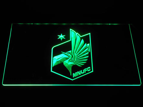 Image of Minnesota United FC LED Neon Sign - Green - SafeSpecial