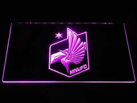 Image of Minnesota United FC LED Neon Sign - Purple - SafeSpecial