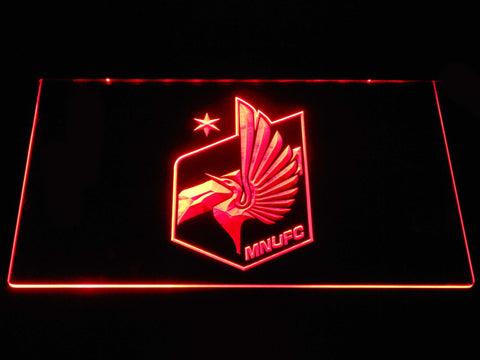 Image of Minnesota United FC LED Neon Sign - Red - SafeSpecial