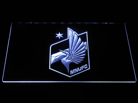 Image of Minnesota United FC LED Neon Sign - White - SafeSpecial