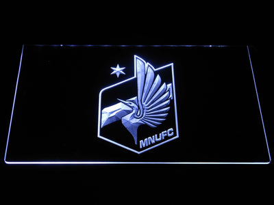 Minnesota United FC LED Neon Sign - White - SafeSpecial