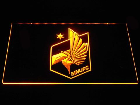 Image of Minnesota United FC LED Neon Sign - Yellow - SafeSpecial
