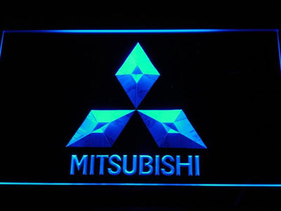 Mitsubishi LED Neon Sign - Blue - SafeSpecial