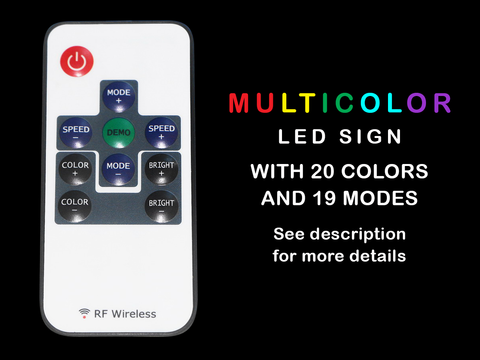 Image of Mitsubishi LED Neon Sign - Multi-Color - SafeSpecial