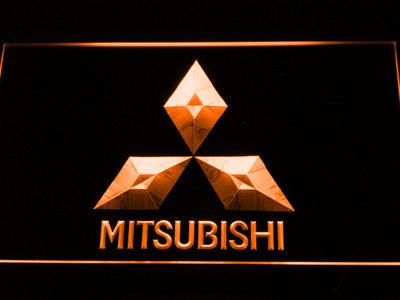 Mitsubishi LED Neon Sign - Orange - SafeSpecial
