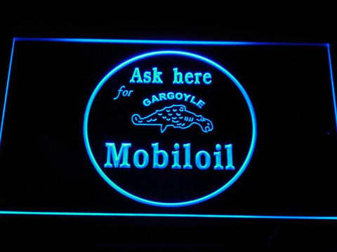 Image of Mobiloil LED Neon Sign - Blue - SafeSpecial