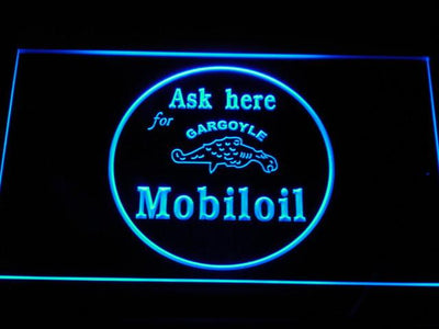 Mobiloil LED Neon Sign - Blue - SafeSpecial