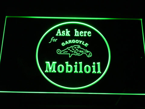 Image of Mobiloil LED Neon Sign - Green - SafeSpecial