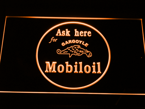 Image of Mobiloil LED Neon Sign - Orange - SafeSpecial