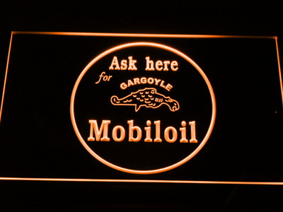 Mobiloil LED Neon Sign - Orange - SafeSpecial
