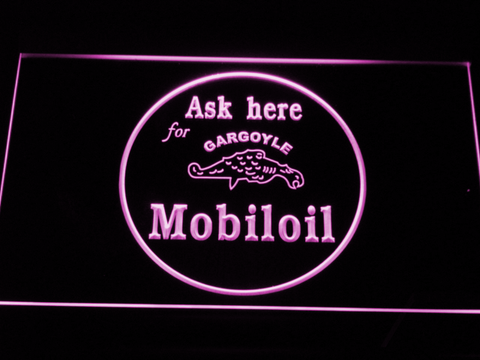 Image of Mobiloil LED Neon Sign - Purple - SafeSpecial